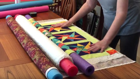 Make A Quilt Sandwich With Pool Noodles | DIY Joy Projects and Crafts Ideas