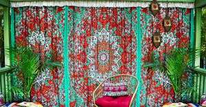 No-Sew BoHo Fringy Curtains