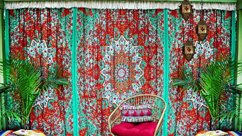 No-Sew BoHo Fringy Curtains | DIY Joy Projects and Crafts Ideas