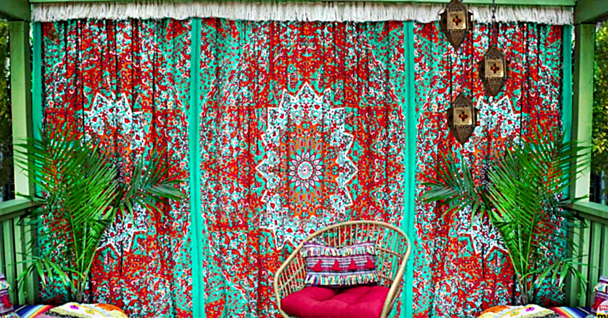 No Sew Boho Fringy Curtains