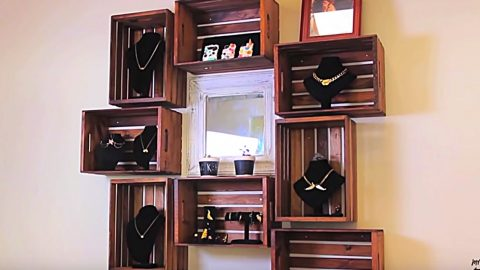 Learn How To Make A Wood Crate Shelving Unit | DIY Joy Projects and Crafts Ideas