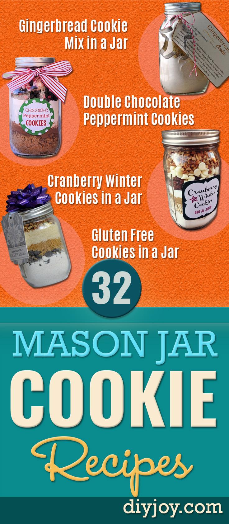 Mason Jar Cookie Recipe Pinterest