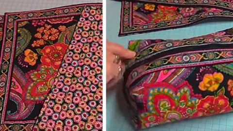 DIY Placemat Zipper Pouch | DIY Joy Projects and Crafts Ideas