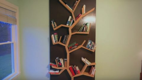 How To Make A Tree Bookshelf | DIY Joy Projects and Crafts Ideas