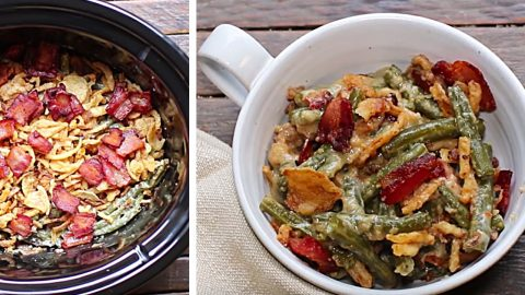Crockpot Green Bean And Bacon Casserole Recipe | DIY Joy Projects and Crafts Ideas