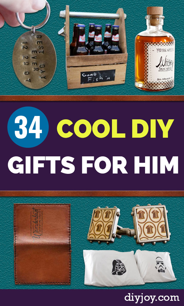 DIY Gifts for Guys - DYI Gift Ideas for Men - Creative Christmas Gift Ideas for Him