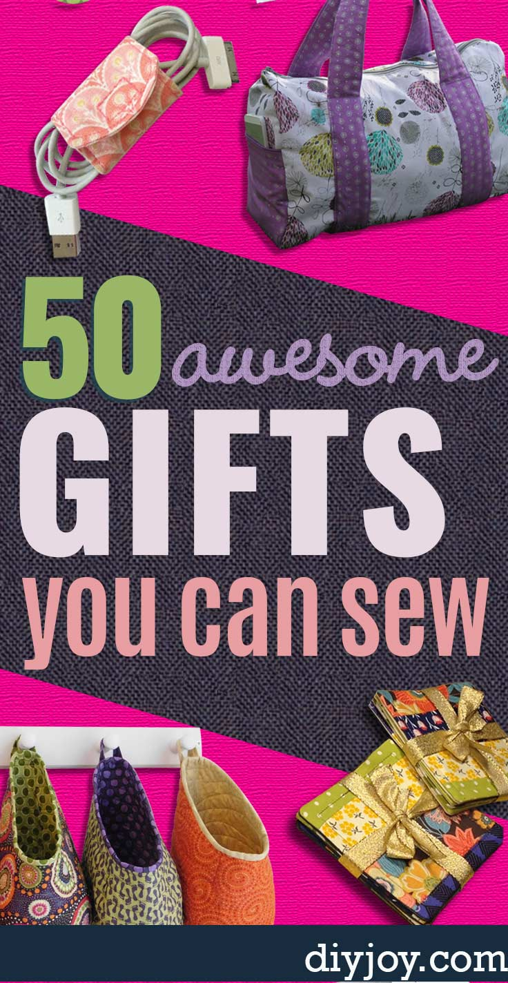 DIY Gifts to Sew - Easy Sewing Ideas With Free Patterns - DIY Gift Ideas to Sew