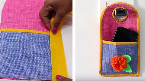 DIY Phone Charging Pouch | DIY Joy Projects and Crafts Ideas