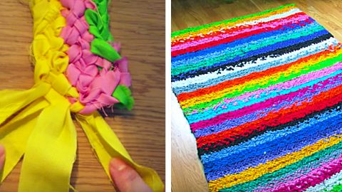 DIY No Sew Rag Rug | DIY Joy Projects and Crafts Ideas