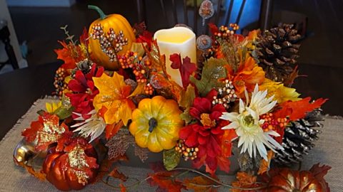 Dollar Tree Thanksgiving Centerpiece | DIY Joy Projects and Crafts Ideas