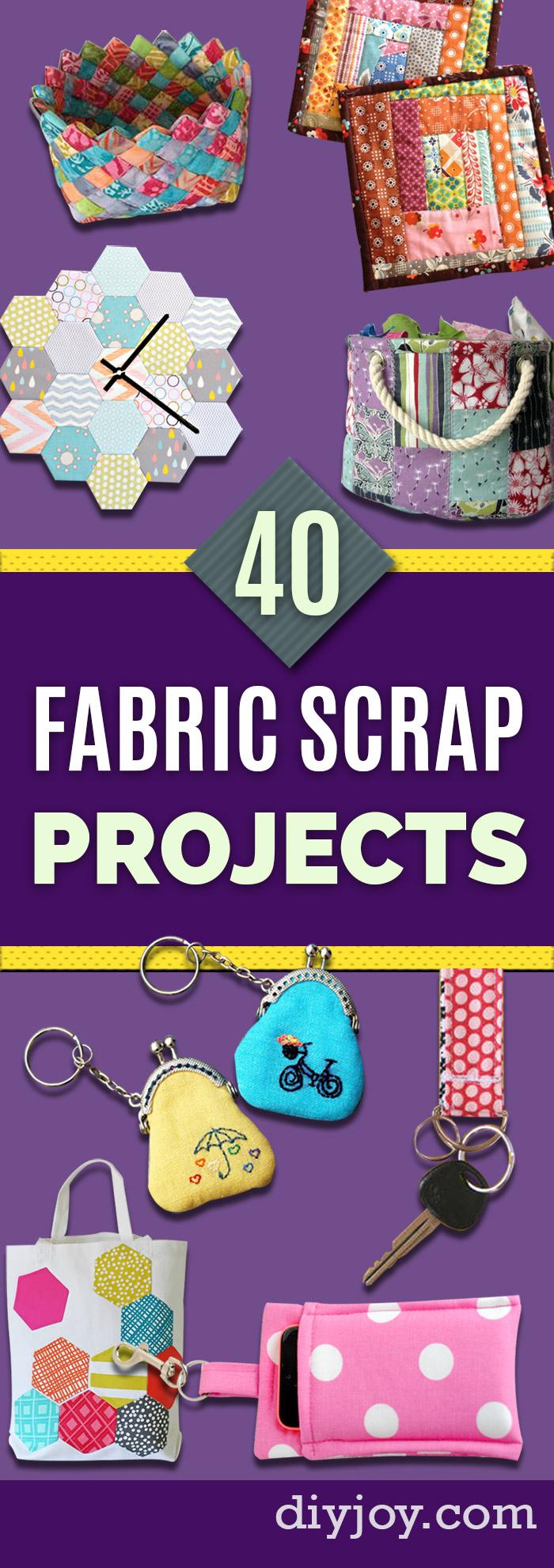 Fabric Scraps Pin - DIY Ideas for Leftover Fabric Scraps - Crafts Using Small Pieces of Fabrics