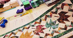 Quilted Autumn Leaf Table Runner