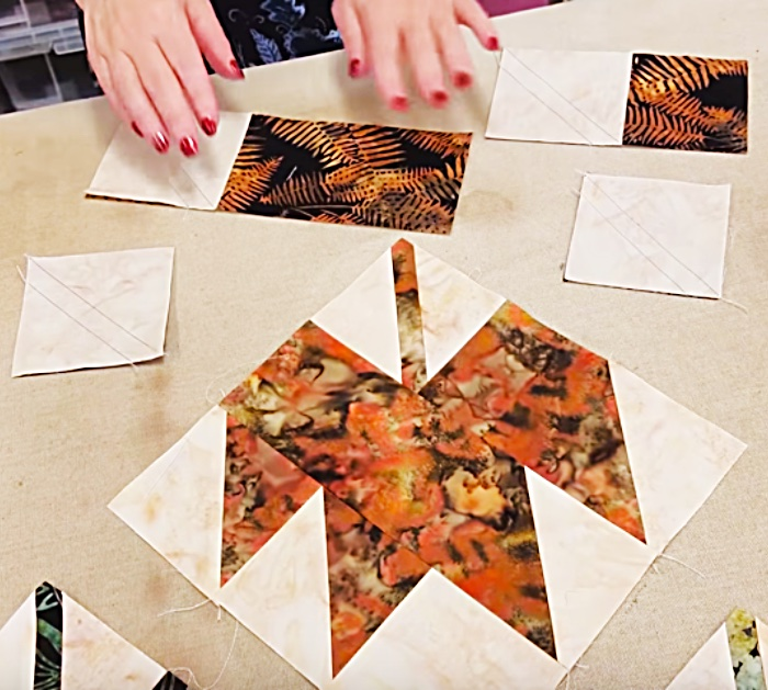 Learn to make an Autumn quilt table runner