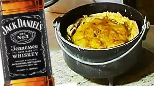 Make Jack Daniels Peach Cobbler In A Dutch Oven