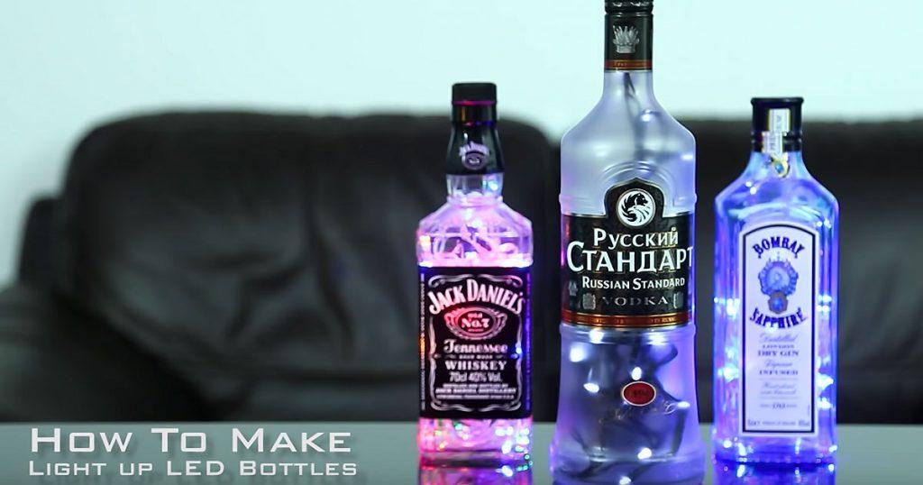 DIY Liquor Bottle Lights - Jack Daniels Light Tutorial - DIY String Light Ideas