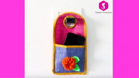 Mobile Phone Charging Pouch | DIY Joy Projects and Crafts Ideas