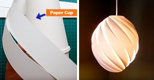 Make A Swirl Pendant Light With 2 Paper Cups