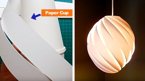 Make A Swirl Pendant Light With 2 Paper Cups | DIY Joy Projects and Crafts Ideas