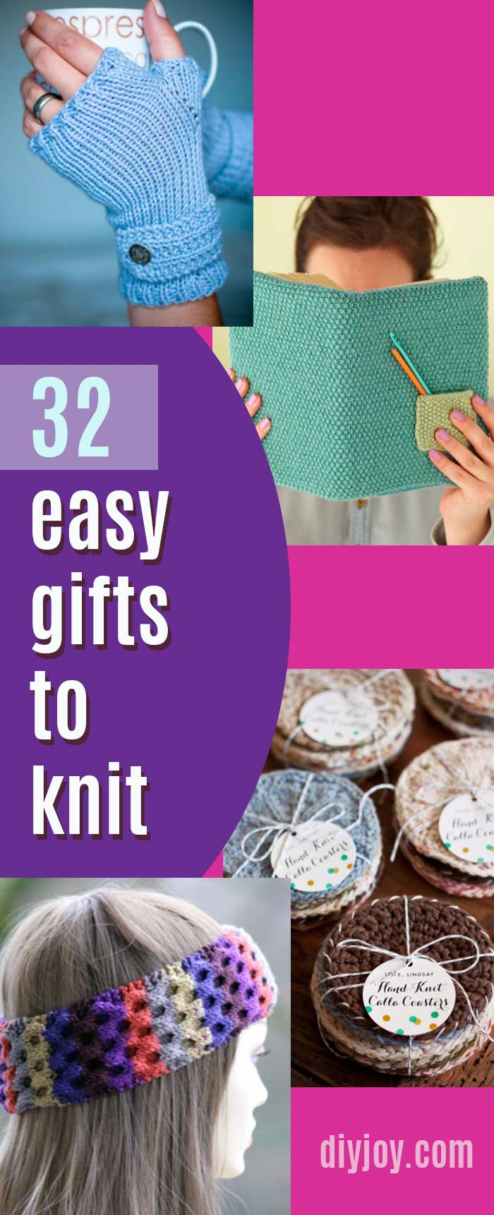 Easy Knitting Ideas for Gifts - Pinterest Best Knit Projects With Tutorial and Step by Step Instructions