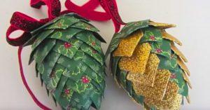 DIY Pinecone Paper Ornament