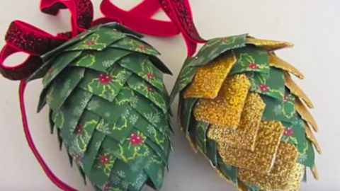 DIY Pinecone Paper Ornament | DIY Joy Projects and Crafts Ideas