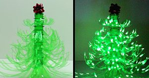 DIY Plastic Bottle Christmas Tree Luminary