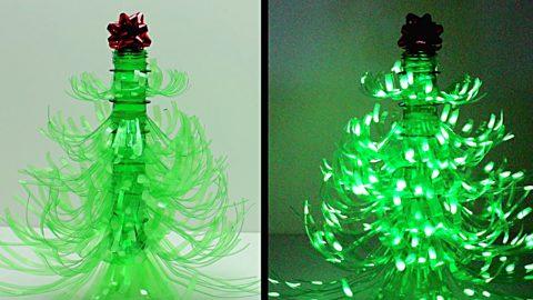 DIY Plastic Bottle Christmas Tree Luminary | DIY Joy Projects and Crafts Ideas