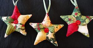 Learn To Make Patchwork Quilted Star Ornaments