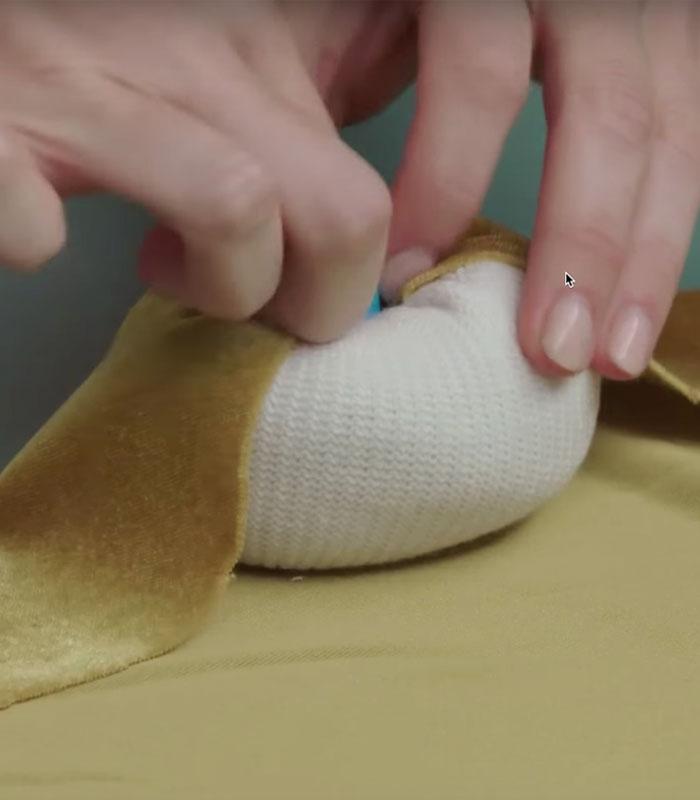 DIY Velvet Sock Pumpkins