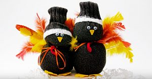 Learn How To Make Thanksgiving Sock Turkeys