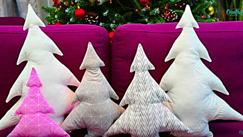 Learn To Sew A DIY Christmas Tree Pillow | DIY Joy Projects and Crafts Ideas