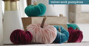 How to Make Velvet Sock Pumpkins