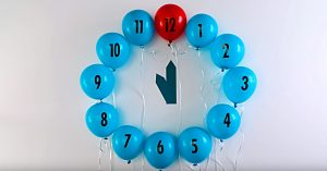 DIY New Year's Eve Balloon Clock