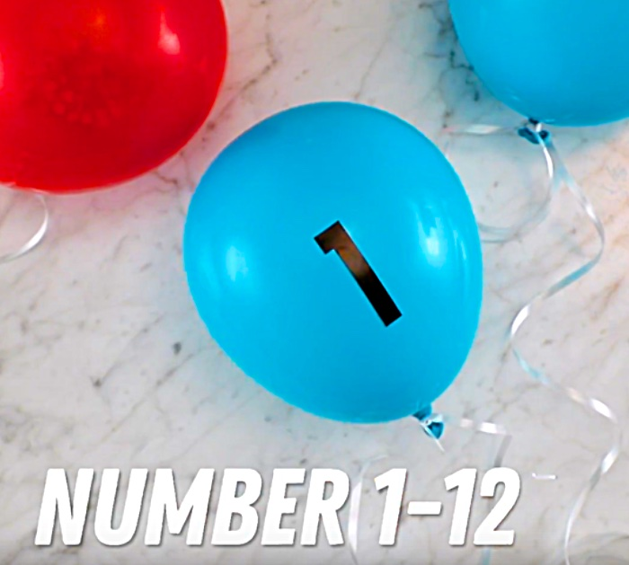 Make a confetti filled balloon clock for New Year's Eve