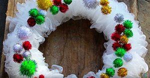 DIY Bath Scrubby Christmas Wreath