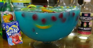 Blue Kool-Aid Jungle Juice Punch With Everclear