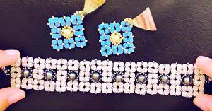 DIY Beaded Bicone Bracelet Gift