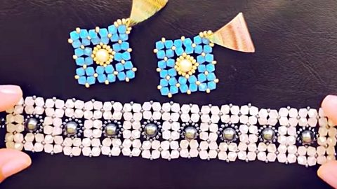 DIY Beaded Bicone Bracelet Gift | DIY Joy Projects and Crafts Ideas
