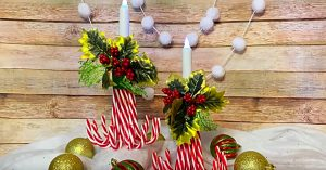 DIY Candy Cane Luminaries