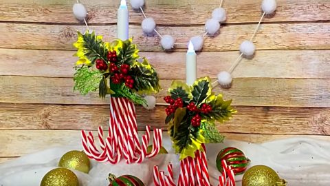 DIY Candy Cane Luminaries | DIY Joy Projects and Crafts Ideas