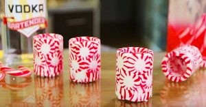 Candy Cane Cups With Candy Cane Infused Vodka