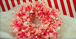 DIY Candy Christmas Wreath