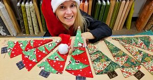 Learn To Sew Last Minute Christmas Tree Napkins