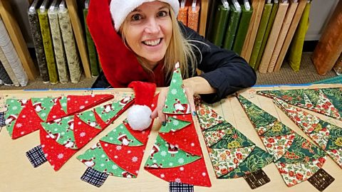 Learn To Sew Last Minute Christmas Tree Napkins | DIY Joy Projects and Crafts Ideas