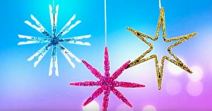 DIY Clothespin Star Ornaments