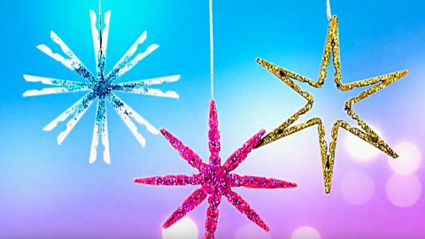 DIY Clothespin Star Ornaments | DIY Joy Projects and Crafts Ideas