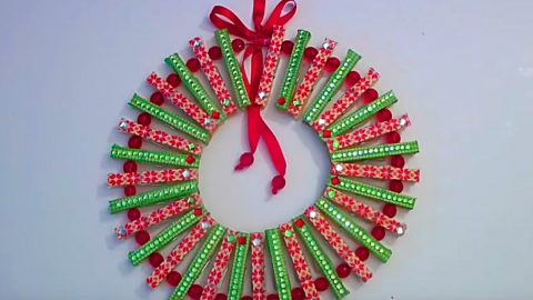 DIY Clothespin Wreath | DIY Joy Projects and Crafts Ideas