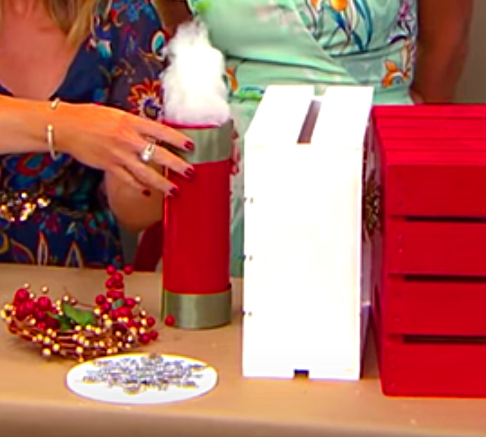 Learn to make a DIY Christmas Crate Train out of craft crates and spray paint