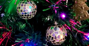 DIY Disco Ball Ornament Using Old CDs