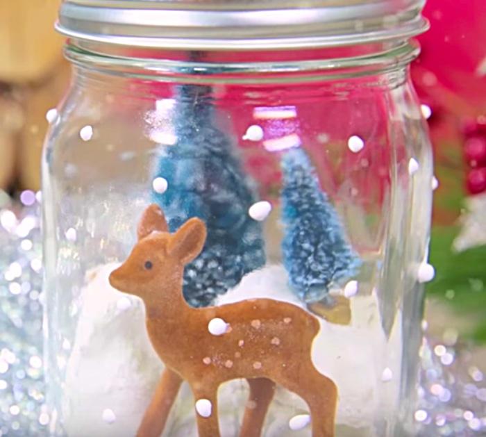 DIY Donut Snow Globe with Hostess Donnettes and Mason Jars